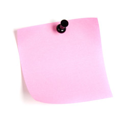 post-it reminder message, note blank with shadow pink