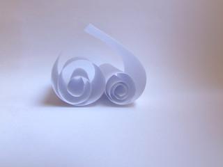 spiral heart of paper
