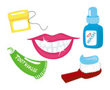 Dental Icons with Clipping Path