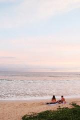 pink sky beach