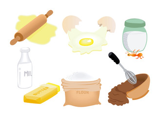 Ingredient Icons with Clipping Paths