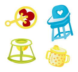 Baby Icons with Clipping Path