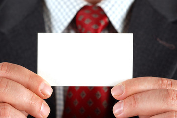 businessman holding visiting card #11