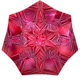 Ruby red precious stone, macro closeup poster