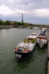 Boats on Sena River Paris