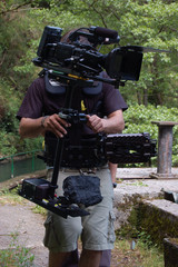 TV Camera in Steadycam