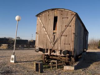 antiguo vagón de tren