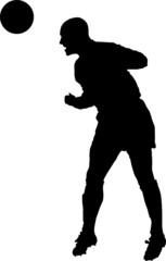 Sport silhouette - Soccer player