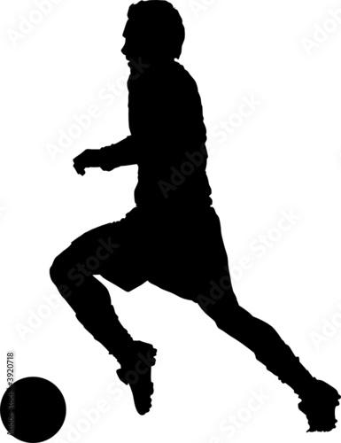soccer player silhouette. Sport silhouette - Soccer