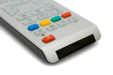 Television remote control,  isolated on white background poster