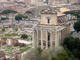 Antonino e Faustina Temple in the Roman Forum  poster