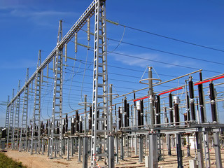 Electricity station in Majorca (Spain)