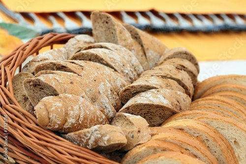 Detail of various breads