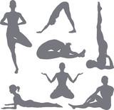 Yoga postures poster