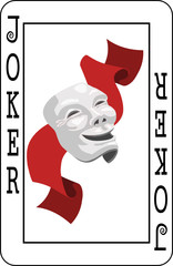 Joker card from deck of playing cards
