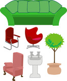 selection of furniture poster