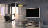 Modern interior with plasma screen