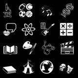 Fototapety  a subject category icon set