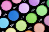 A make-up multi colored palette close up. poster