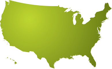 Illustration of a map of us