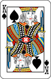 King of spades from deck of playing cards poster