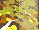 Background featuring hexagons. poster
