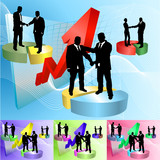 Conceptual business background poster