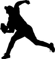 Sport silhouette - baseball player