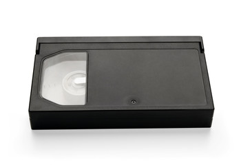 Video cassette, isolated on white background.