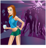 Nightclub woman poster