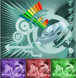 Conceptual Music Background poster