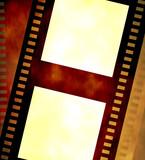 Old negative coloured film strip poster