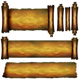 Collection of several scroll elements poster