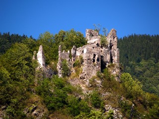 Ruined Castle of Strecno, Slovakia
