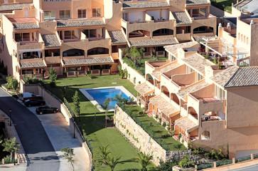 Sunny apartment block on Spanish urbanisation