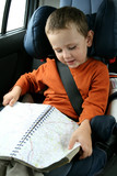 baby in car safety seat poster