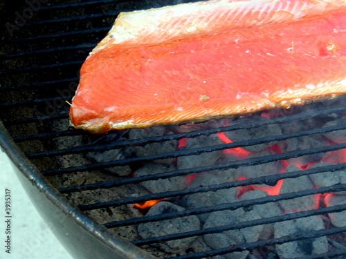 Griilling Salmon