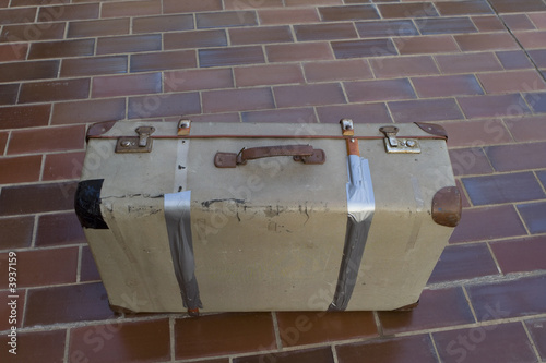 Old rusty suitcase