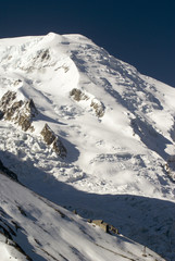 View of Mont Blanc mountain range from Aiguille Du Midi