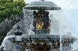Leinwanddruck Bild - Paris, fontaine de la place de la Concorde