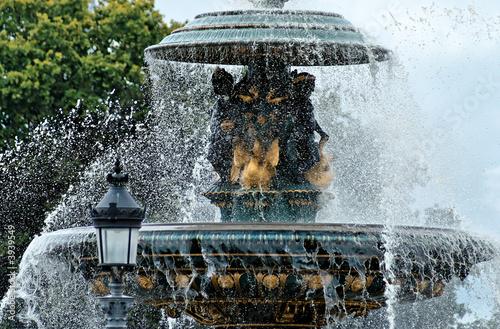 Leinwanddruck Bild Paris, fontaine de la place de la Concorde