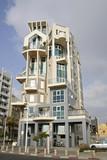 gaudi style building in tel aviv poster