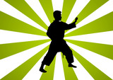 Background Martial arts poster