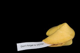 A very interesting chinese fortune cookie message. poster
