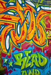 Colourful artistic graffiti