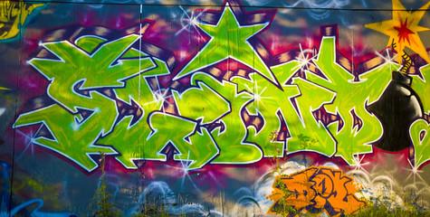 Graffiti on hoarding
