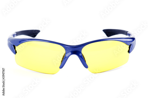 sport glasses with yellow lenses