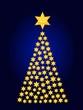 Weihnachtsbaum Sterne blau