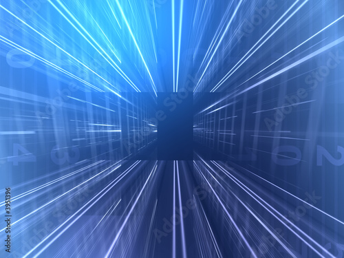 Leinwanddruck Bild abstract blue background