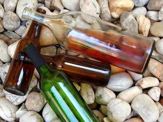 discarded bottles